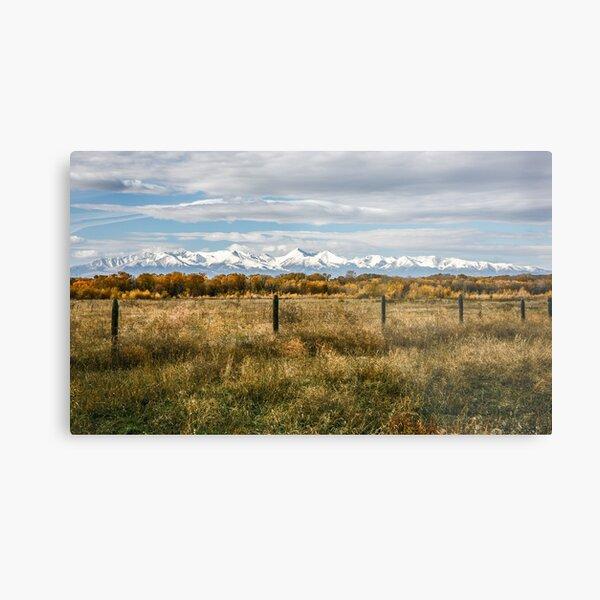 Fall in Montana Metal Print
