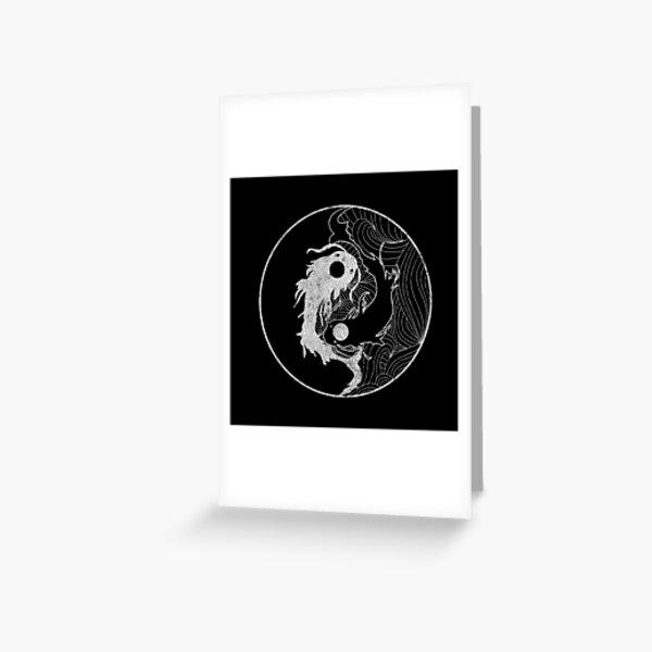 Yin and Yang Coy Fish Greeting Card