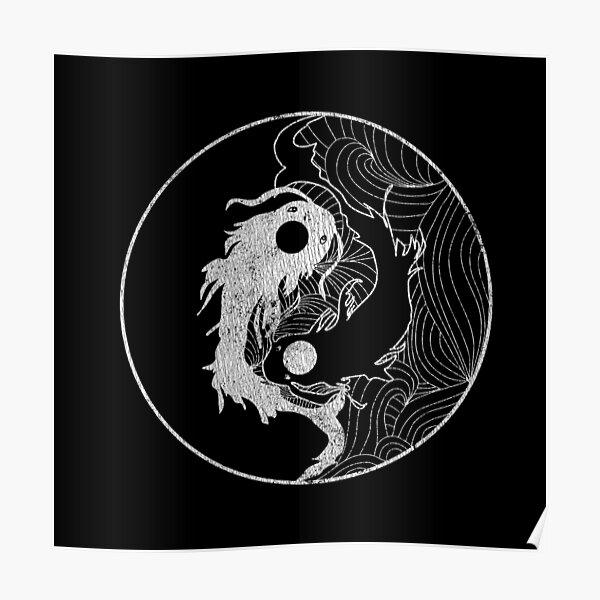 Yin and Yang Coy Fish Poster