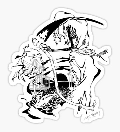 Reaper Out West Sticker