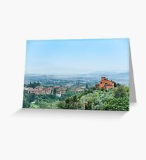 Tuscany Approaches Greeting Card