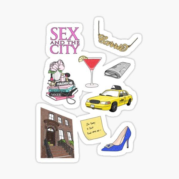 Sex and the city stuff Sticker