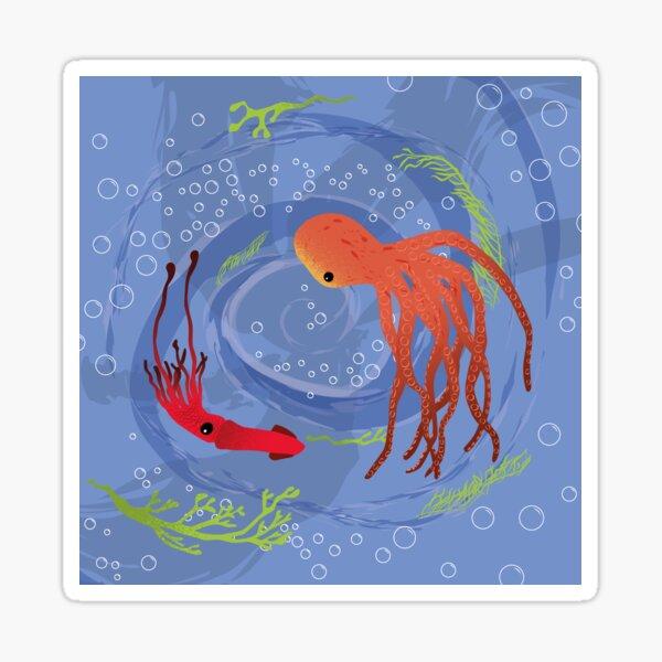 Swirling cephalopods Sticker