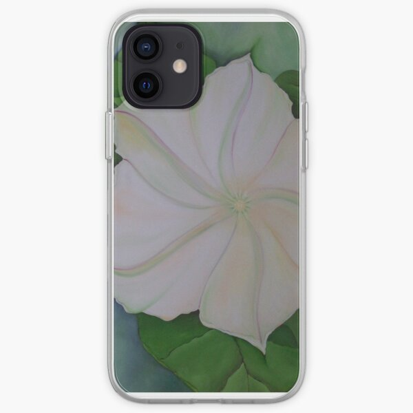 Night Moon Flower Glory Star Oil Painting iPhone Soft Case