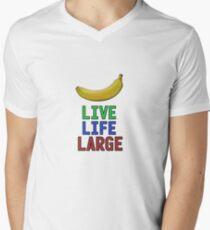 Live Life Large - T-Shirt + Hoodie Mens V-Neck T-Shirt