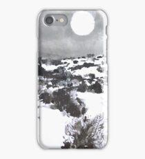 Winter Moon in the High Desert iPhone Case/Skin