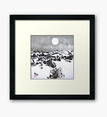 Winter Moon in the High Desert Framed Print