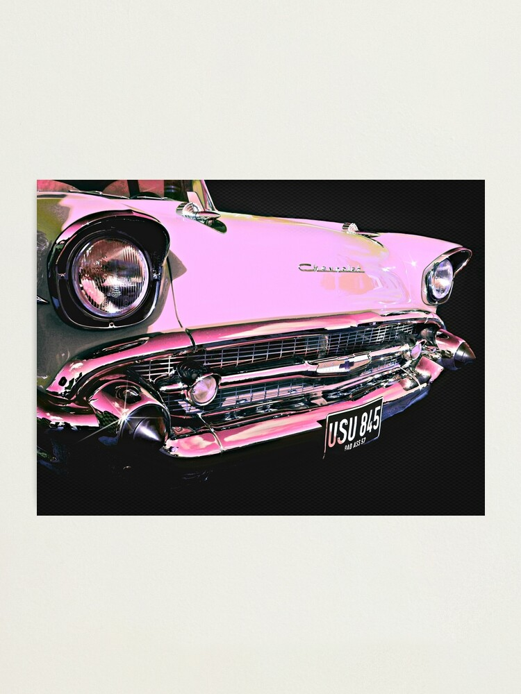 Alternate view of Candy Pink Chevrolet Photographic Print
