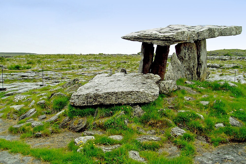 Poulnabrone dolmen - the Burren - Ireland by Arie Koene