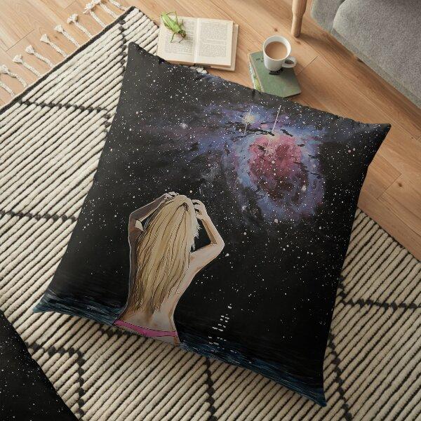 cosmic waters Floor Pillow