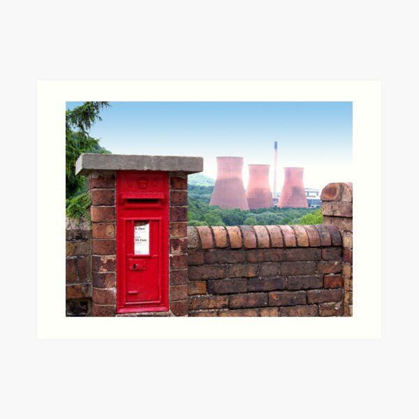 Postbox Nr Ironbridge  Art Print
