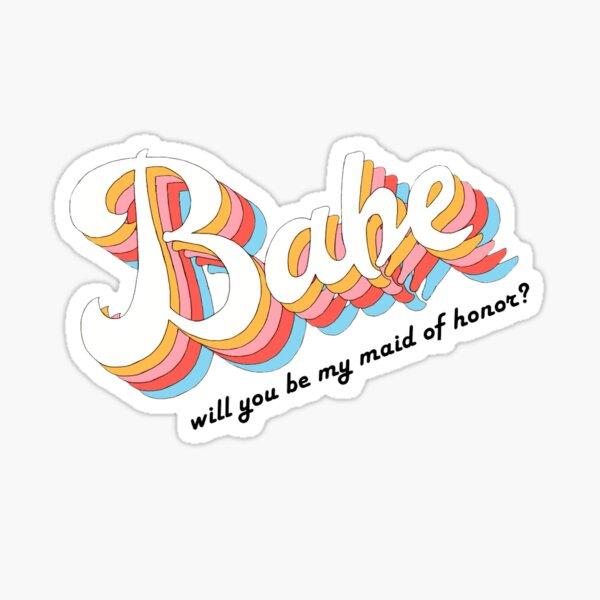 Bridesmaid Sticker Sticker