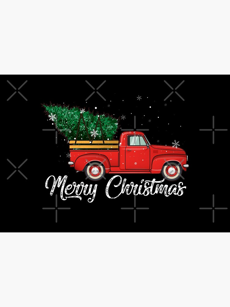 Red Truck Pick Up Christmas Tree Vintage Retro Sweater Gift For Men And Women, Halloween day, Thanksgiving day, Christmas day by RhondaTees
