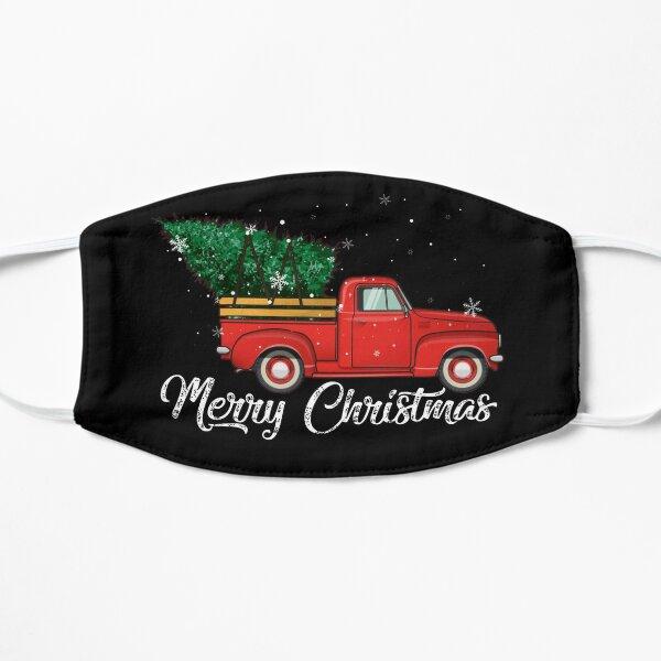 Red Truck Pick Up Christmas Tree Regalo de suéter retro vintage para hombres y mujeres, día de Halloween, día de acción de gracias, día de Navidad Mascarilla