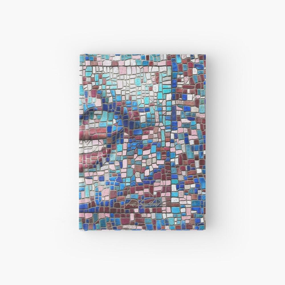 """Broken"" (mosaic tile, painted) - ""Smile"" Fine Art series Hardcover Journal"