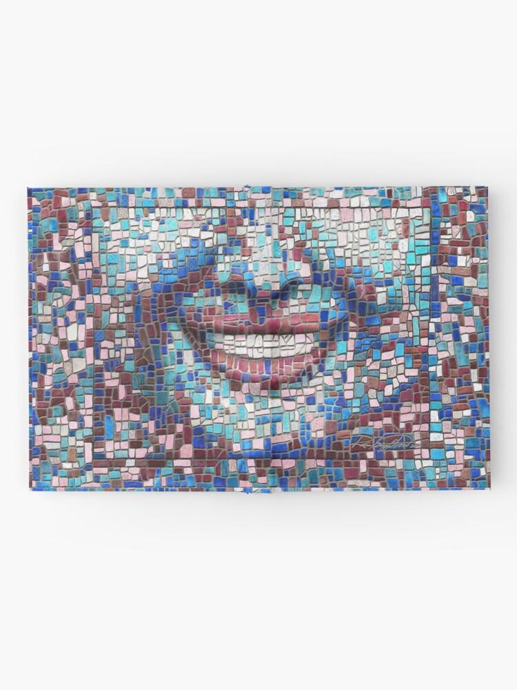 "Alternate view of ""Broken"" (mosaic tile, painted) - ""Smile"" Fine Art series Hardcover Journal"