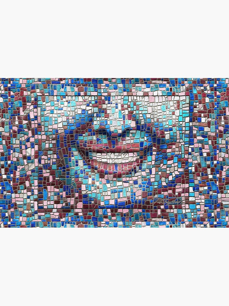 """Broken"" (mosaic tile, painted) - ""Smile"" Fine Art series by CaraSonrisa"