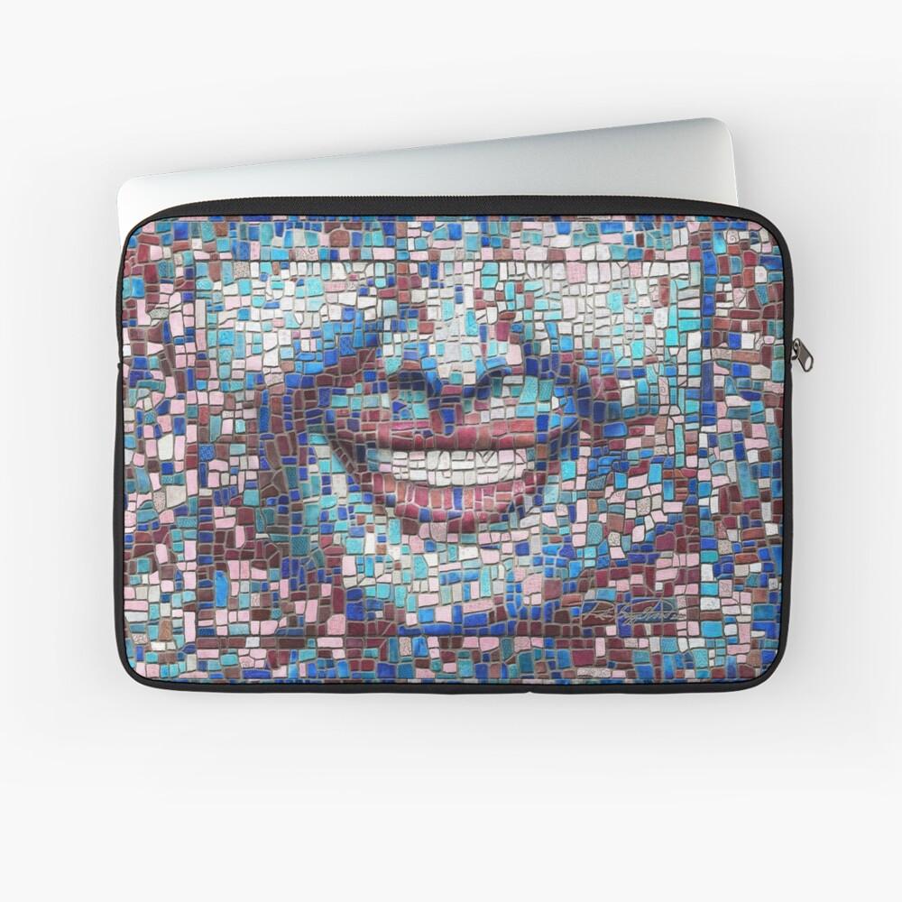 """Broken"" (mosaic tile, painted) - ""Smile"" Fine Art series Laptop Sleeve"
