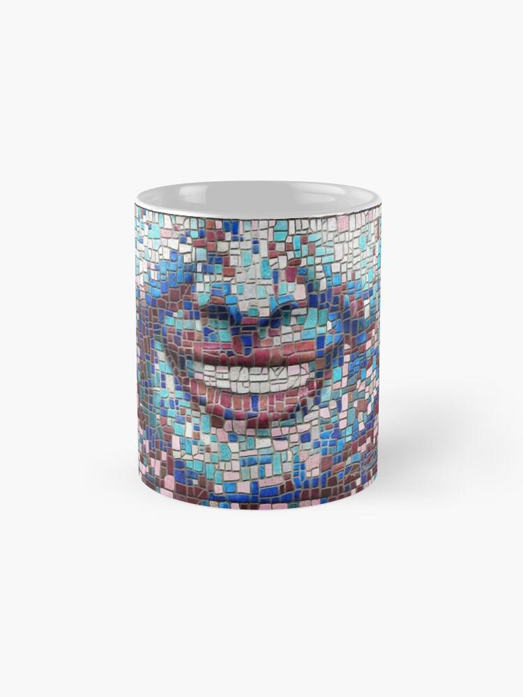 "Alternate view of ""Broken"" (mosaic tile, painted) - ""Smile"" Fine Art series Mug"