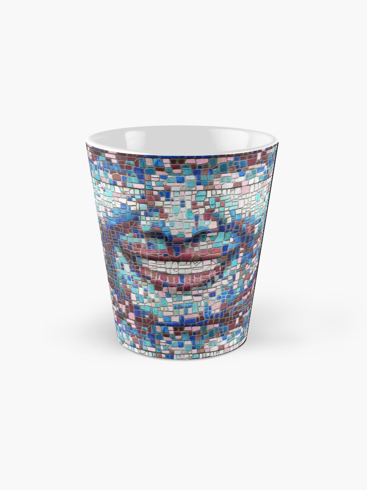 "Alternate view of ""Broken"" (mosaic tile, painted) - ""Smile"" Fine Art series Mug"