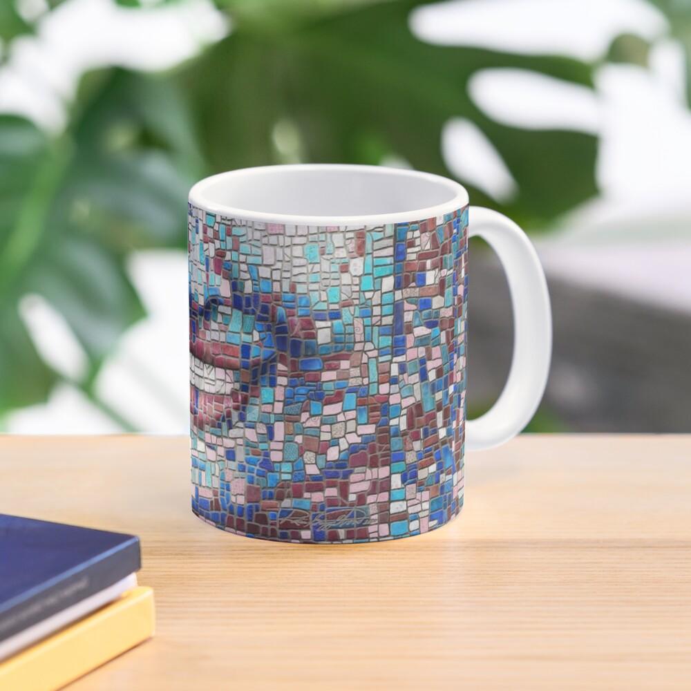 """Broken"" (mosaic tile, painted) - ""Smile"" Fine Art series Mug"
