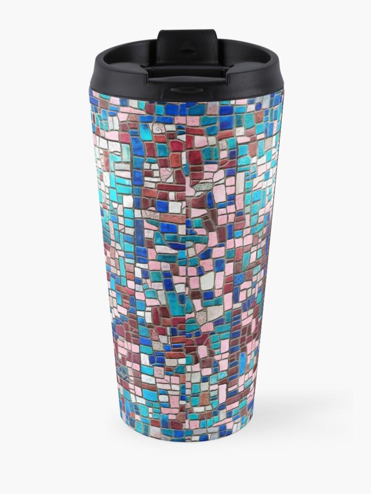 "Alternate view of ""Broken"" (mosaic tile, painted) - ""Smile"" Fine Art series Travel Mug"