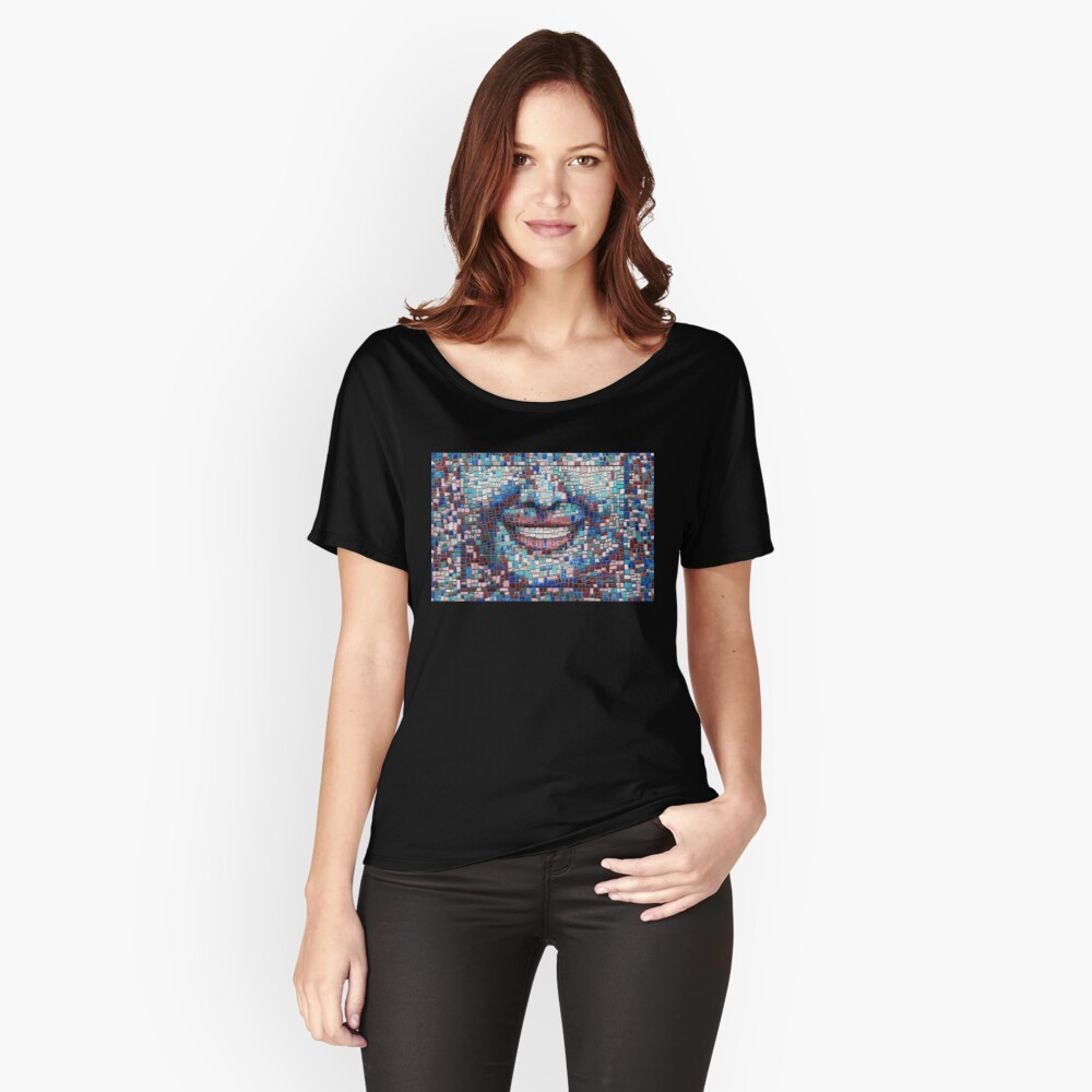 """""""Broken"""" (mosaic tile, painted) - """"Smile"""" Fine Art series Relaxed Fit T-Shirt"""