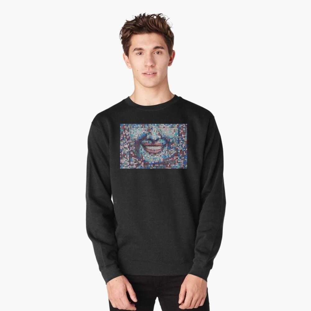 """Broken"" (mosaic tile, painted) - ""Smile"" Fine Art series Pullover Sweatshirt"