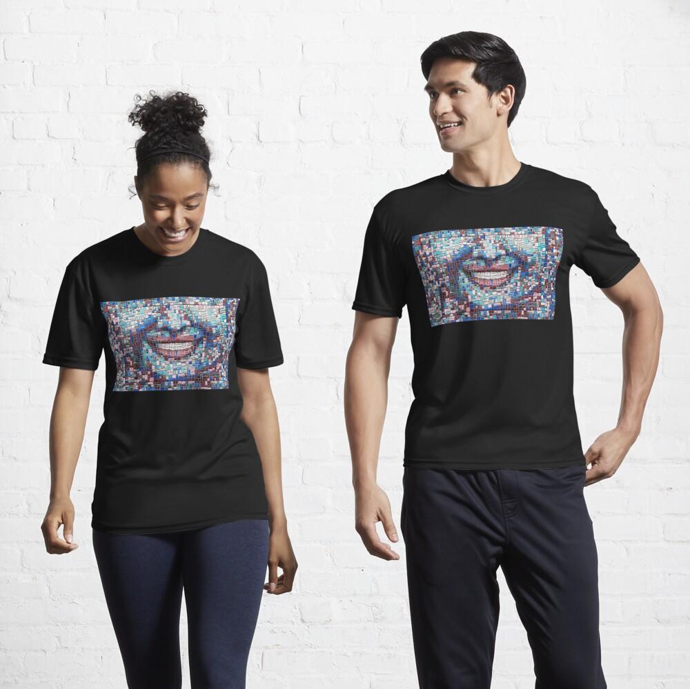 """""""Broken"""" (mosaic tile, painted) - """"Smile"""" Fine Art series Active T-Shirt"""