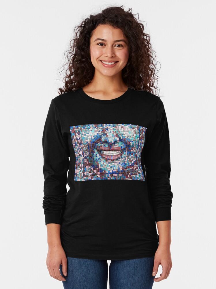 "Alternate view of ""Broken"" (mosaic tile, painted) - ""Smile"" Fine Art series Long Sleeve T-Shirt"