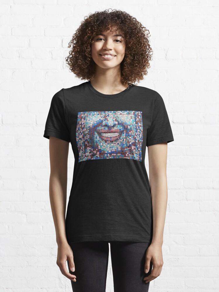 "Alternate view of ""Broken"" (mosaic tile, painted) - ""Smile"" Fine Art series Essential T-Shirt"