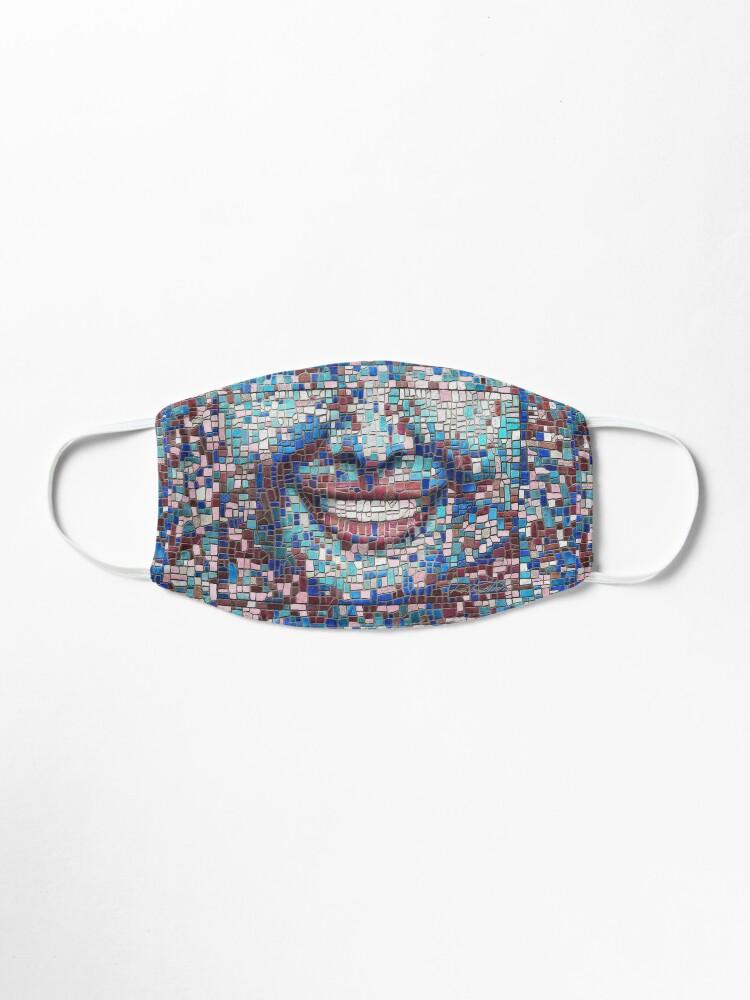 "Alternate view of ""Broken"" (mosaic tile, painted) - ""Smile"" Fine Art series Mask"