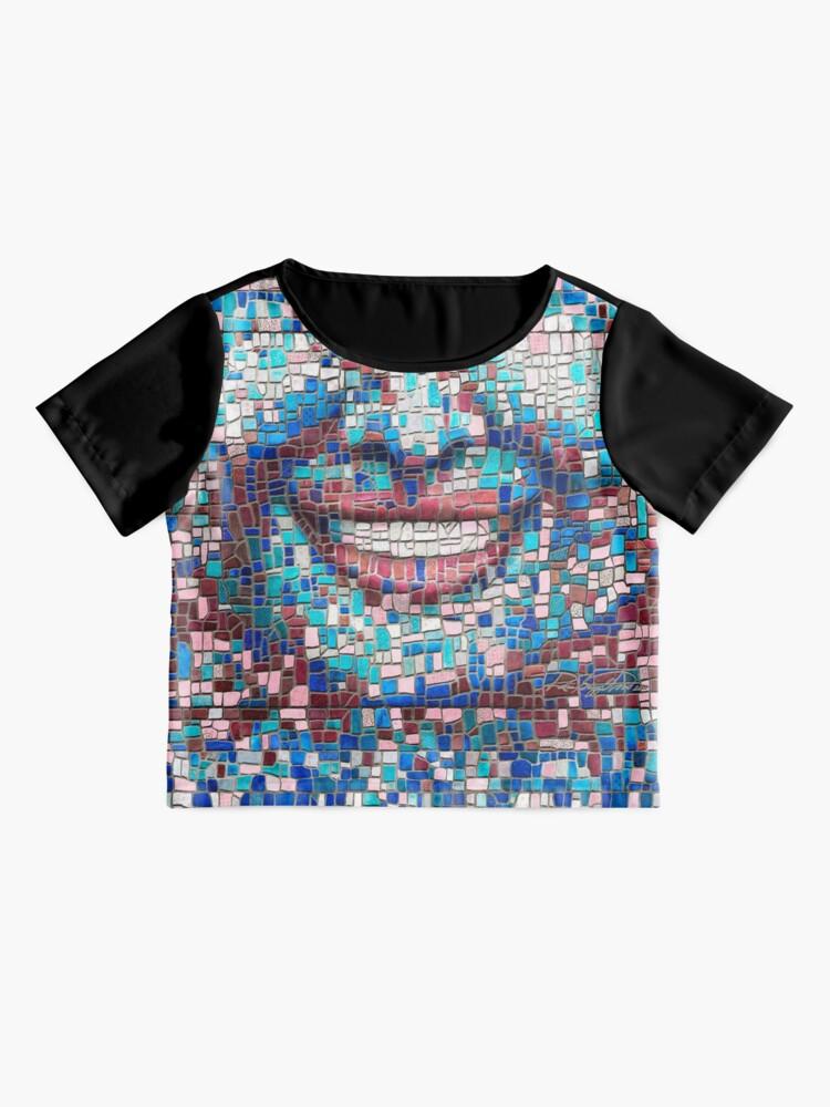 "Alternate view of ""Broken"" (mosaic tile, painted) - ""Smile"" Fine Art series Chiffon Top"
