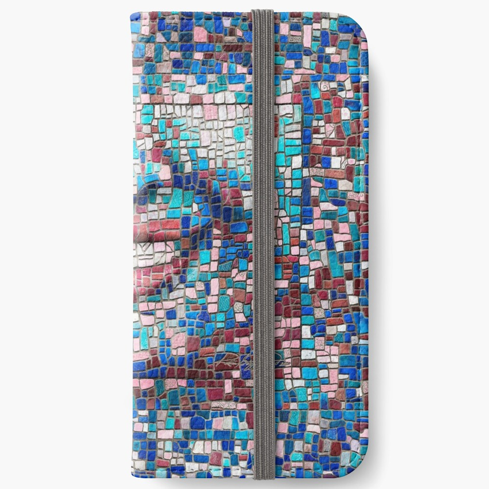 """Broken"" (mosaic tile, painted) - ""Smile"" Fine Art series iPhone Wallet"