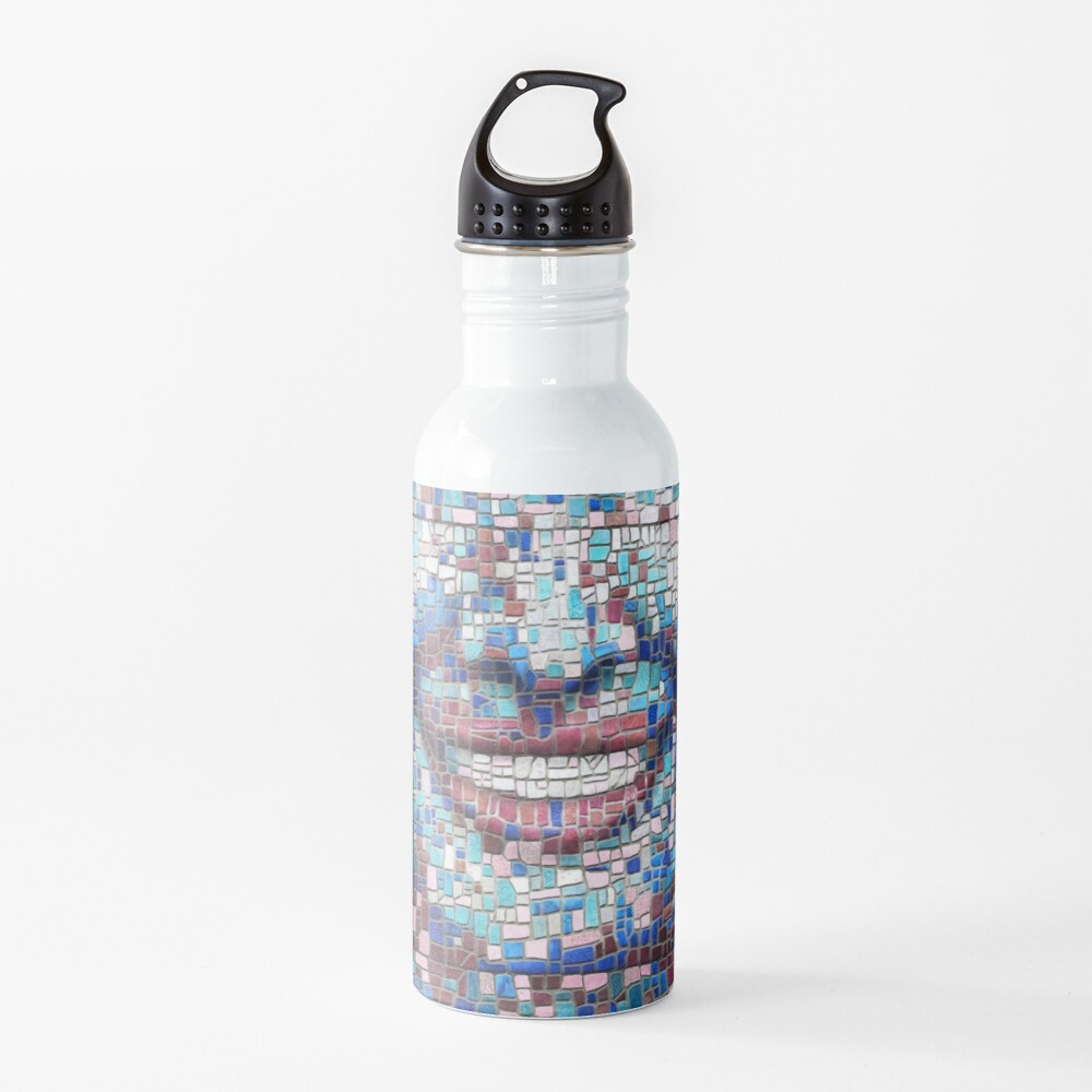 """Broken"" (mosaic tile, painted) - ""Smile"" Fine Art series Water Bottle"