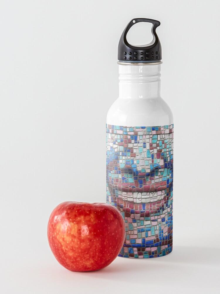 "Alternate view of ""Broken"" (mosaic tile, painted) - ""Smile"" Fine Art series Water Bottle"