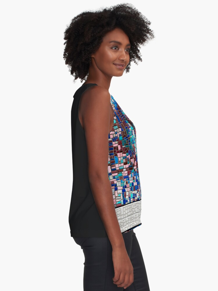 "Alternate view of ""Broken"" (mosaic tile, painted) - ""Smile"" Fine Art series Sleeveless Top"