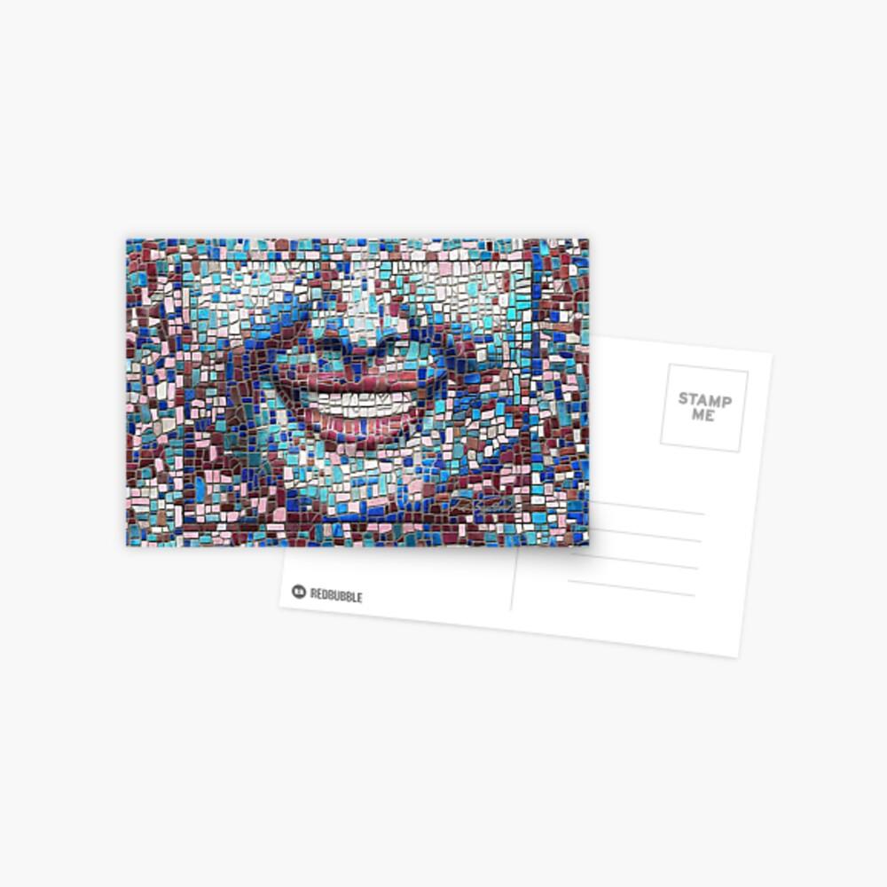 """Broken"" (mosaic tile, painted) - ""Smile"" Fine Art series Postcard"