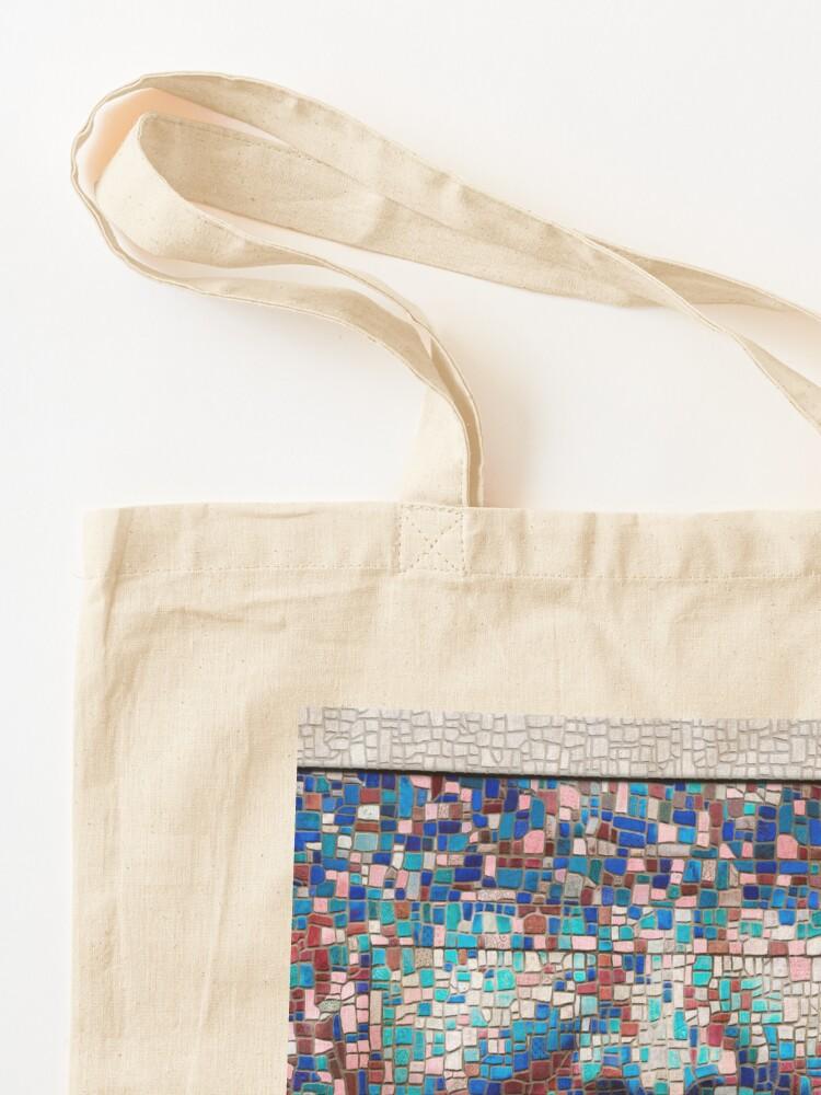 "Alternate view of ""Broken"" (mosaic tile, painted) - ""Smile"" Fine Art series Tote Bag"