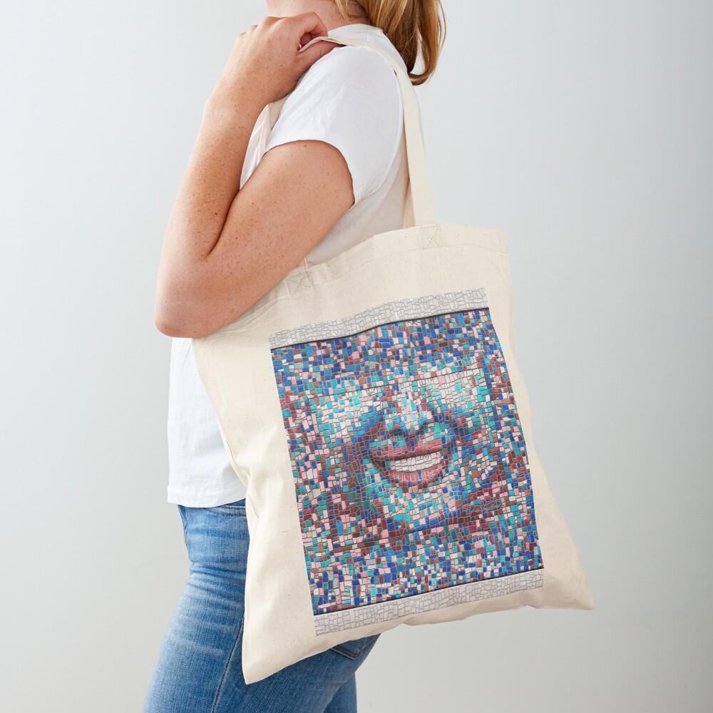 """Broken"" (mosaic tile, painted) - ""Smile"" Fine Art series Tote Bag"