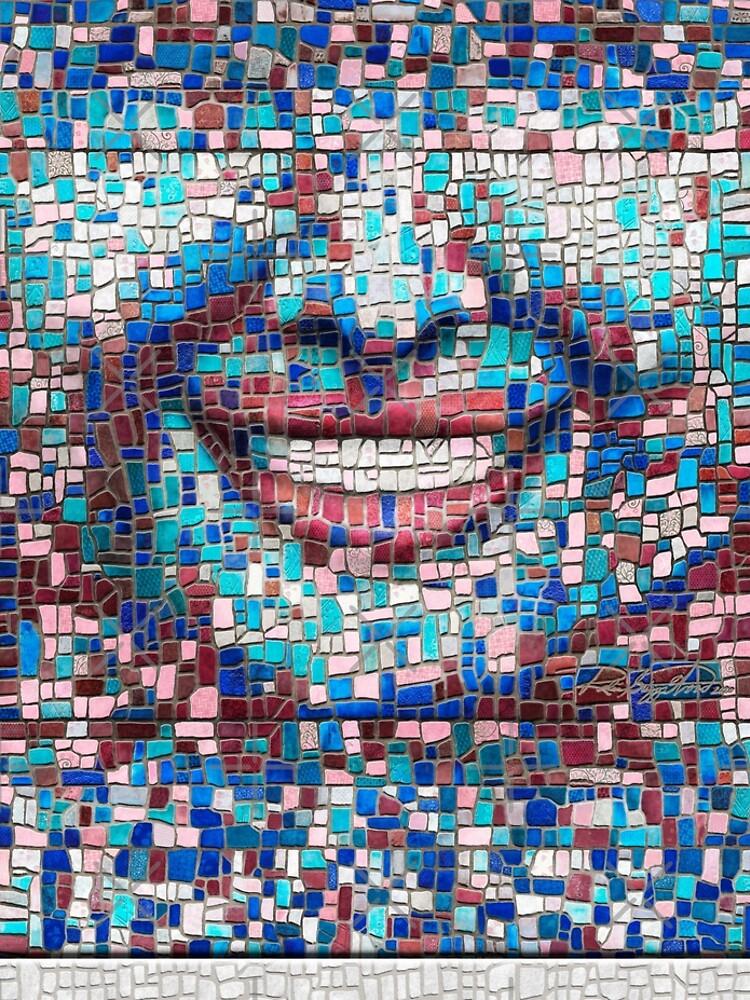 """Broken"" (mosaic tile, painted) - ""Smile"" Fine Art series by CaraSonrisa"