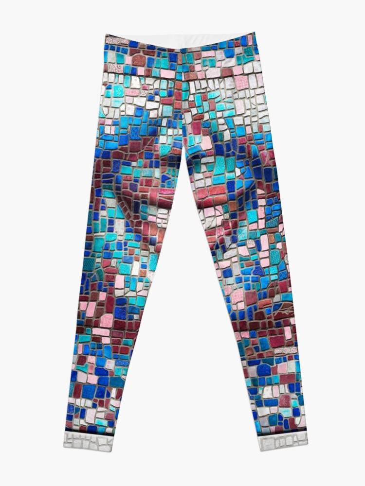 "Alternate view of ""Broken"" (mosaic tile, painted) - ""Smile"" Fine Art series Leggings"