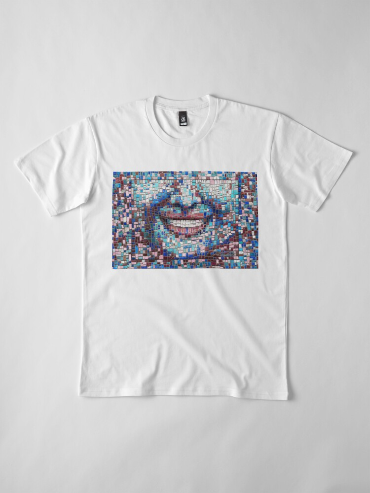 "Alternate view of ""Broken"" (mosaic tile, painted) - ""Smile"" Fine Art series Premium T-Shirt"
