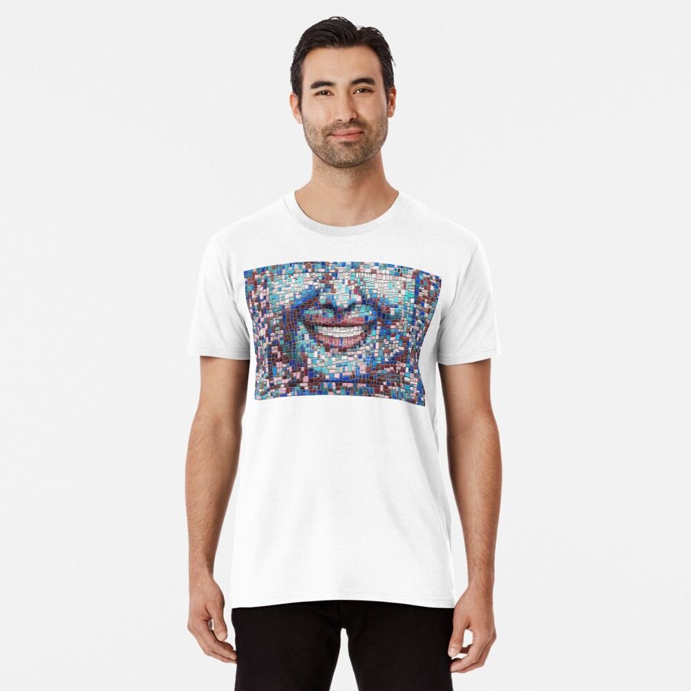 """Broken"" (mosaic tile, painted) - ""Smile"" Fine Art series Premium T-Shirt"