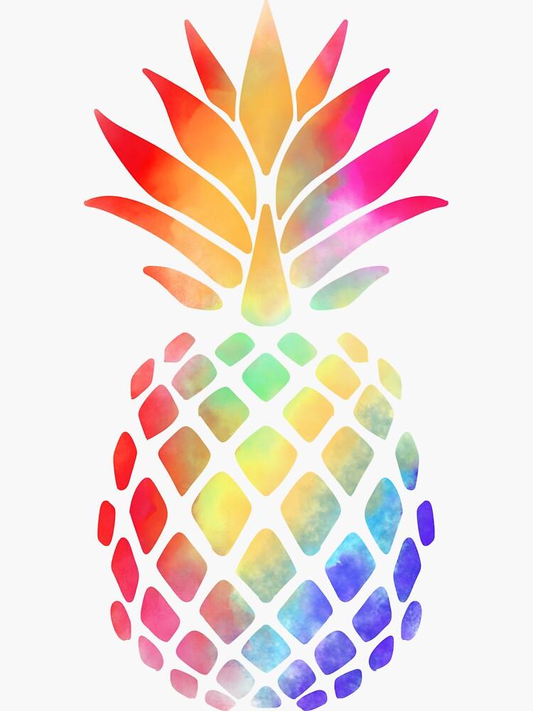 Rainbow Pineapple  by Kittyworks