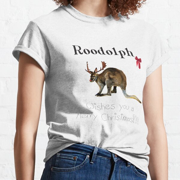 Roodolph the red nosed Roo! Merry Christmas! Classic T-Shirt