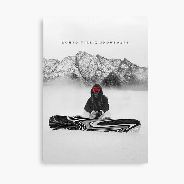 SNOWBOARDER NUAGEUX Impression sur toile