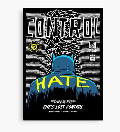 Post-Punk Bat: Control Canvas Print
