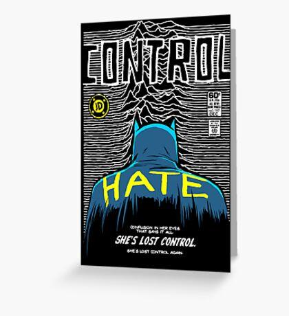Post-Punk Bat: Control Greeting Card