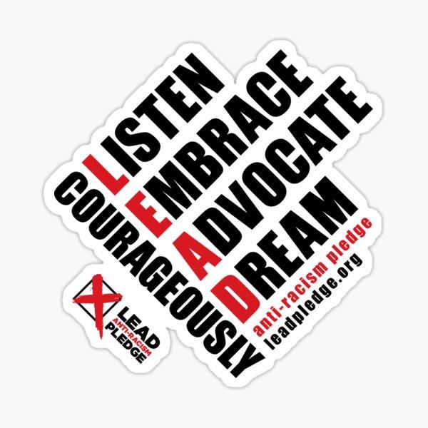LEAD Anti-Racism Pledge Sticker